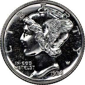 1938 10C PF obverse