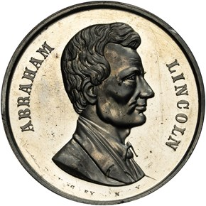 1870-DATED K-233, WM ABRAHAM LINCOLN 40mm MS obverse