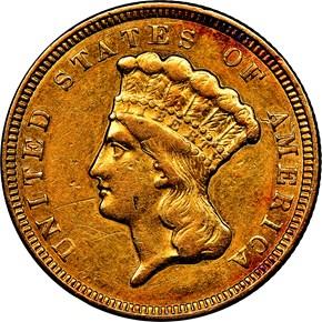 1856 $3 MS obverse