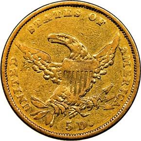 1834 CLASSIC PLAIN 4 $5 MS reverse