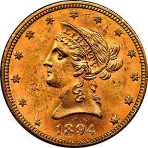 1894 $10 MS obverse