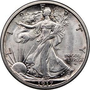 1917 D OBVERSE 50C MS obverse