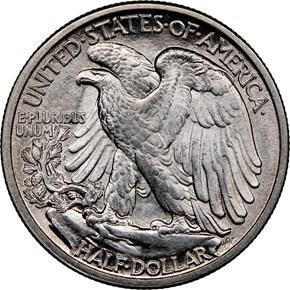 1917 D OBVERSE 50C MS reverse