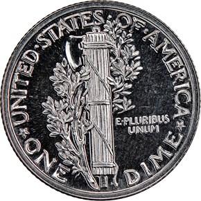 1936 10C PF reverse