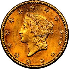 1849 NO L G$1 MS obverse