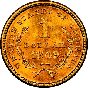 1849 NO L G$1 MS reverse