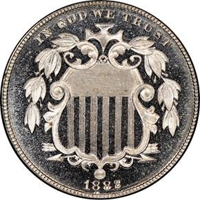 1882 5C PF obverse