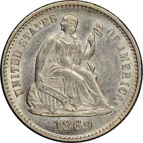 1869 H10C MS obverse