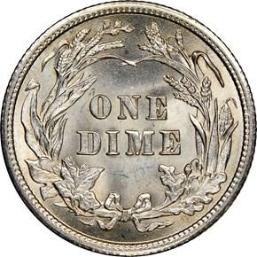 1908 10C MS reverse