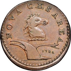 1786 UNDER BEAM NEW JERSEY MS obverse