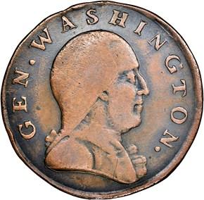 (1786) WASHINGTON NEW JERSEY SHIELD MS obverse