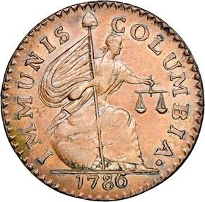 1786 IMMUNIS COLUMBIA SHIELD MS obverse