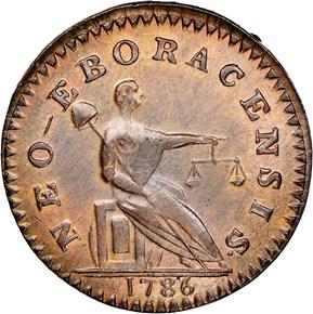 1786 SM HEAD NEW YORK NON VI VIRTUTE VICI MS reverse
