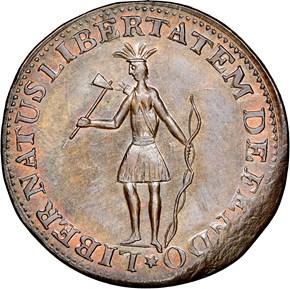 1787 INDIAN & EAGLE EXCELSIOR MS obverse
