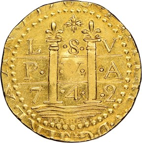 1786 LIMA STYLE EPHRAIM BRASHER DBLN MS obverse