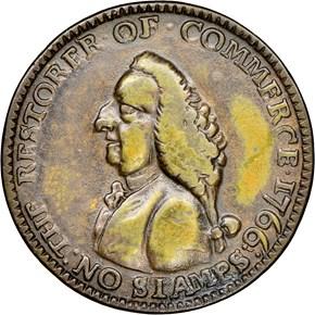 1766 WILLIAM PITT 1/4P MS obverse