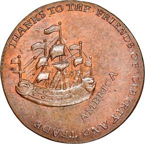 1766 WILLIAM PITT 1/2P MS reverse