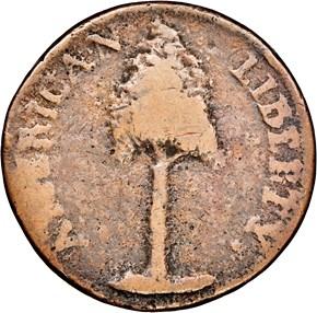 1776 PINE TREE NEW HAMPSHIRE MS obverse