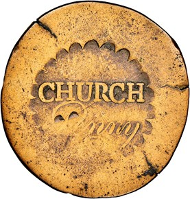 (1790) NO'D' CHURCH ALBANY, NEW YORK 1P MS obverse
