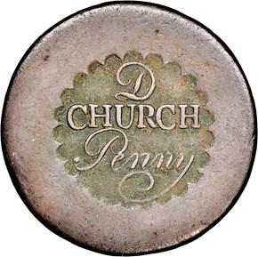 (1790) 'D' CHURCH ALBANY, NEW YORK 1P MS obverse