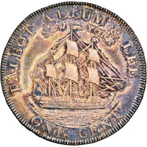 1794 L.E. 'NEW YORK' TALBOT ALLUM & LEE-SILVER 1C reverse