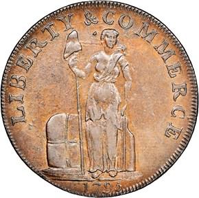 1795 TWIN LEAF EDGE TALBOT ALLUM & LEE 1C MS obverse