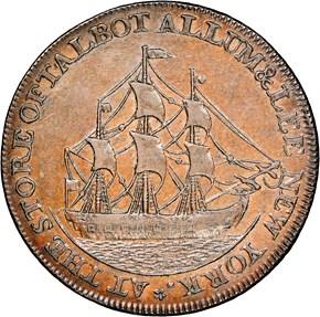 1795 TWIN LEAF EDGE TALBOT ALLUM & LEE 1C MS reverse