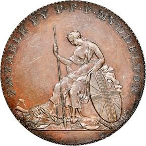 1796 COPPER MYDDELTON TOKEN PF obverse