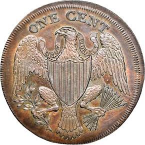 (1791) LARGE EAGLE GEORGE III OBVERSE MULE 1C MS reverse