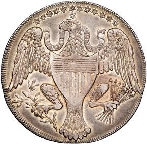 1792 EAGLE & STARS SILV WASHINGTON PRESIDENT 1C MS reverse