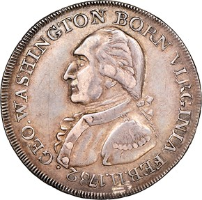 (1792) SILVER WASHINGTON BORN VIRGINIA 1C MS obverse