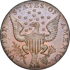 1792 SMALL EAGLE P.E. G.WASHINGTON PRESIDENT 1C MS reverse