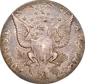 1792 SMALL EAGLE P.E. G.WASHINGTON PRESIDENT 50C M reverse