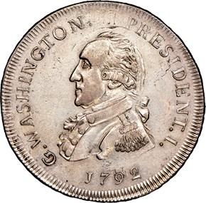 1792 SMALL EAGLE L.E. G.WASHINGTON PRESIDENT 50C M obverse