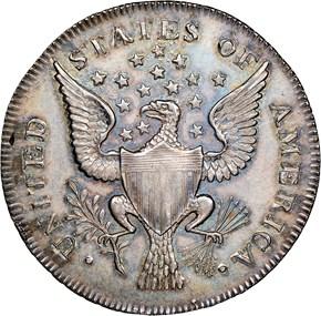 1792 SMALL EAGLE O.E. G.WASHINGTON PRESIDENT 50C M reverse