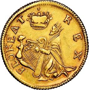 c.1670 GOLD ST.PATRICK NEW JERSEY 1/4P MS reverse