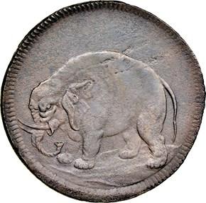 1694 ELEPHANT GOD PRESERVE NEW ENGLAND TOKEN MS obverse