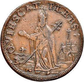 c.1670 ST.PATRICK NEW JERSEY 1/4P MS reverse