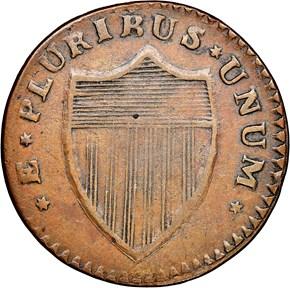 1787 'PLURIRUS' NEW JERSEY MS reverse