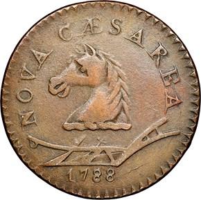 1788 HEAD LEFT NEW JERSEY MS obverse