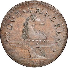 1788 MANE BRAIDED NEW JERSEY MS obverse