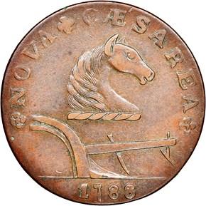 1788 RUNNING FOX LEFT NEW JERSEY MS obverse