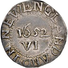 1652 'IN'REV OAK TREE MASSACHUSETTS 6P MS reverse