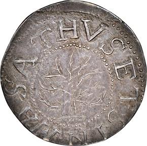 1652'IN'BOT OAK TREE MASSACHUSETTS 1S MS obverse