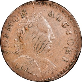1787 BUST RIGHT VERMONT MS obverse