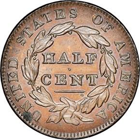 1835 1/2C PF reverse