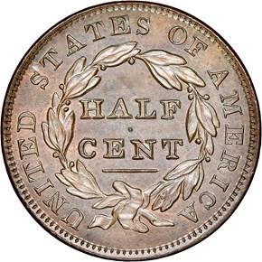 1836 ORIGINAL 1/2C PF reverse