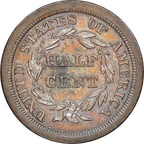 1841 ORIGINAL 1/2C PF reverse