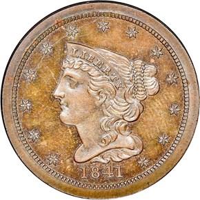 1841 RESTRIKE 1/2C PF obverse