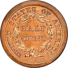 1842 ORIGINAL 1/2C PF reverse